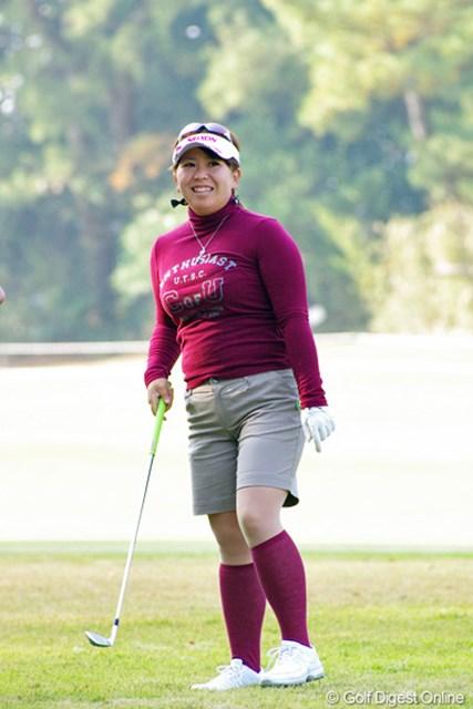 2012年 LPGAツアーチャンピオンシップリコーカップ 3日目 吉田弓美子 前半だけで4バーディを奪う暴れっぷりで、後半は5ボギーの逆暴れや~!ガハハっと笑うしかおませんやん!23位T