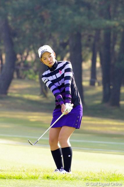 2012年 LPGAツアーチャンピオンシップリコーカップ 3日目 斉藤愛璃 昨日の調子を持続して欲しかったのに…。1バーディ、6ボギーの77は本日のワースト・タイでした…。そやけどシャンシャンとのラウンドは勉強になったんとちゃう?23位T