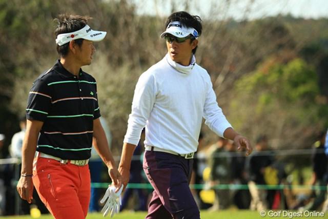 2012年 カシオワールドオープン 3日目 藤田寛之 上井邦浩 第3ラウンドは後輩に軍配…上井邦浩は最終日に1打差逆転を狙う。