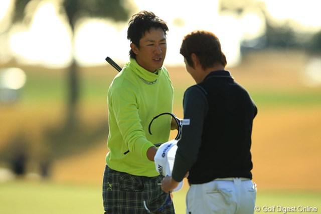 2012年 カシオワールドオープン 最終日 上井邦浩 待望のツアー初勝利はならなかったが、最終戦出場に滑り込んだ上井邦浩。