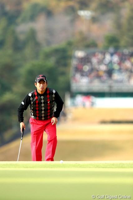 2012年 ゴルフ日本シリーズJTカップ 2日目 池田勇太 スコアが伸びず3オーバー22位タイ。明日以降に期待したいね