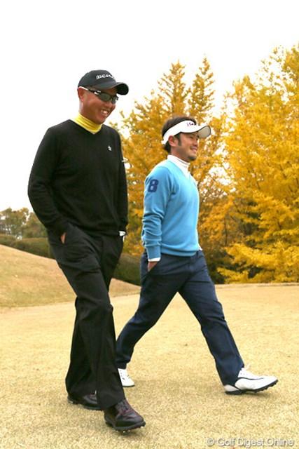 2012年 ゴルフ日本シリーズJTカップ 2日目 谷口徹、上平栄道 師弟関係の二人が日本シリーズで同組でラウンド