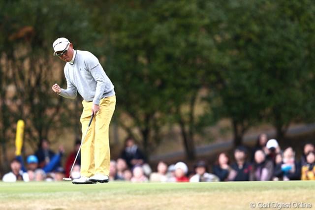 2012年 ゴルフ日本シリーズJTカップ 3日目 谷口徹 最後まで諦めない!谷口徹が6打差逆転に向けて最終日に挑む