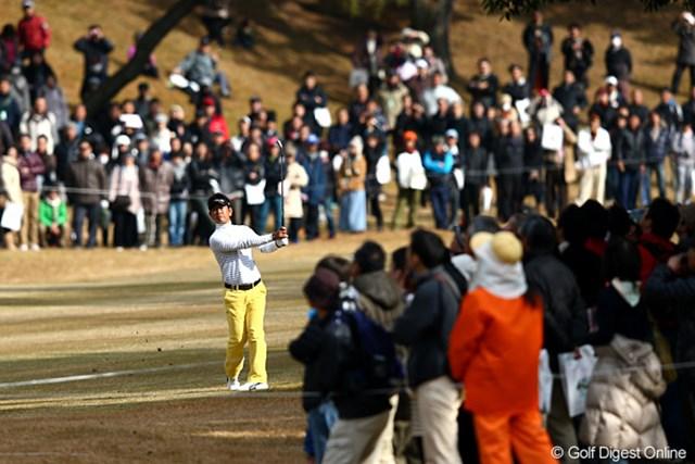 2012年 ゴルフ日本シリーズJTカップ 3日目 藤田寛之 石川遼とのラウンドにも関わらず、最も多くの声援を浴びた藤田寛之