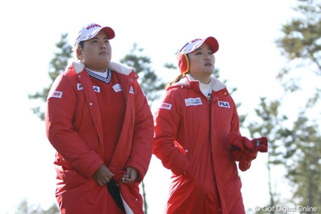 2012年 日韓女子プロゴルフ対抗戦 初日 朴仁妃&リュー・ソヨン 今年の米女子ツアー賞金王と新人王の貫禄コンビはやっぱり強かった。