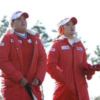 今年の米女子ツアー賞金王と新人王の貫禄コンビはやっぱり強かった。 2012年 日韓女子プロゴルフ対抗戦 初日 朴仁妃&リュー・ソヨン