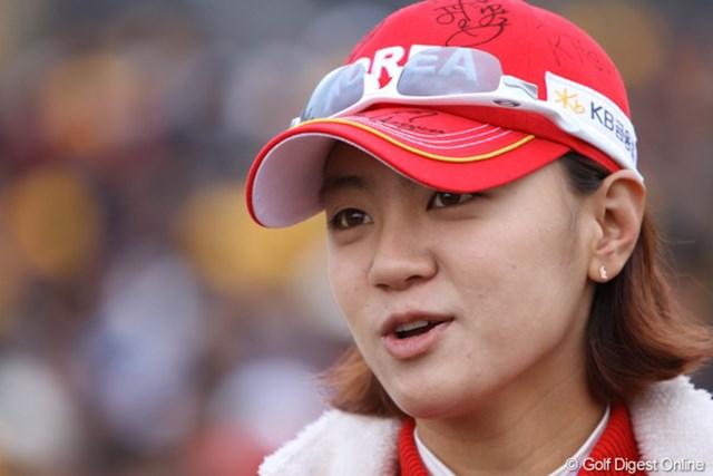 2012年 日韓女子プロゴルフ対抗戦 最終日 チェ・ナヨン こちらではヒーロー扱いのチェ・ナヨン。強くかっこいい憧れの選手です