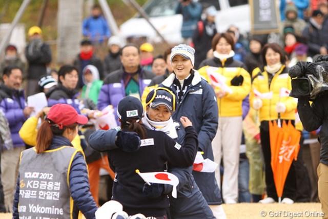2012年 日韓女子プロゴルフ対抗戦 最終日 佐伯三貴 この日朝、首痛のために急遽欠場となった佐伯三貴。「不動さんに申し訳ない」と恐縮したが、まずは無理しないことが肝要です。