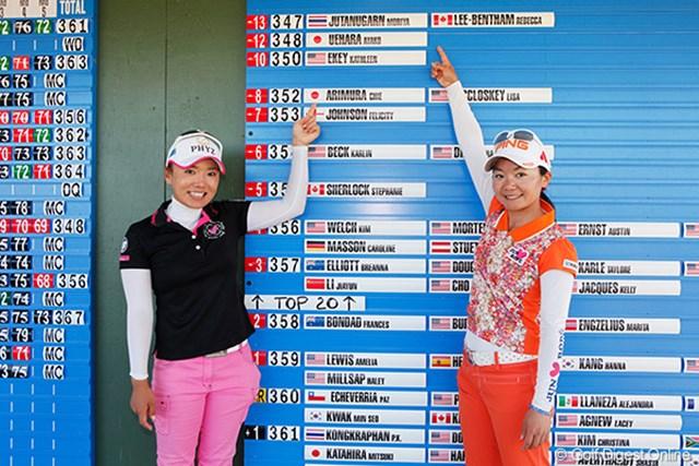 上原彩子は3位、有村智恵は5位タイで終え、来季の米国女子ツアー出場権を獲得!