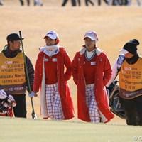 同組でラウンドした大会初日は多くのギャラリーを引き連れていた。 2012年 日韓女子プロゴルフ対抗戦 最終日 チェ・ナヨンとキム・ジャヨン