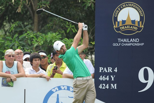 2012年 タイランド選手権 初日 チャール・シュワルツェル 初日「65」をマークしてトップでスタートしたC.シュワルツェル(提供:アジアンツアー)