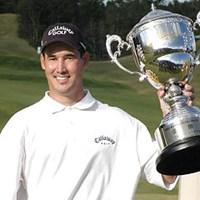 シーズン3勝目を上げたD.ウィルソン 2001年 宇部興産オープンゴルフトーナメント 最終日 ディーン・ウィルソン