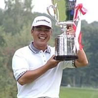 賞金王も狙いたいという林根基 2001年 全日空オープンゴルフトーナメント 最終日 林根基