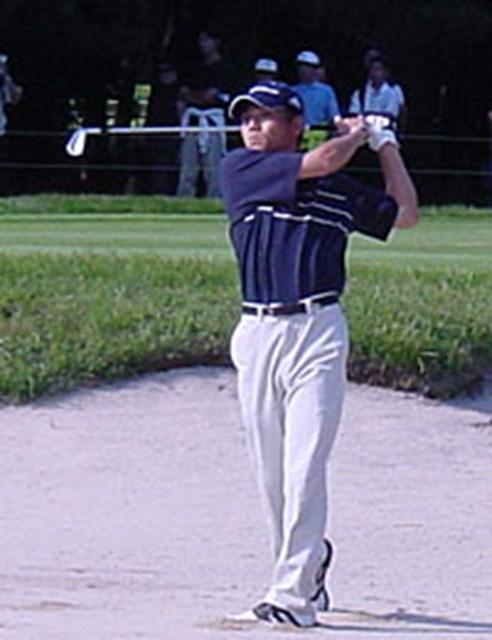 2001年 日本オープンゴルフ選手権競技 初日 田中秀道 98年大会優勝の田中秀道
