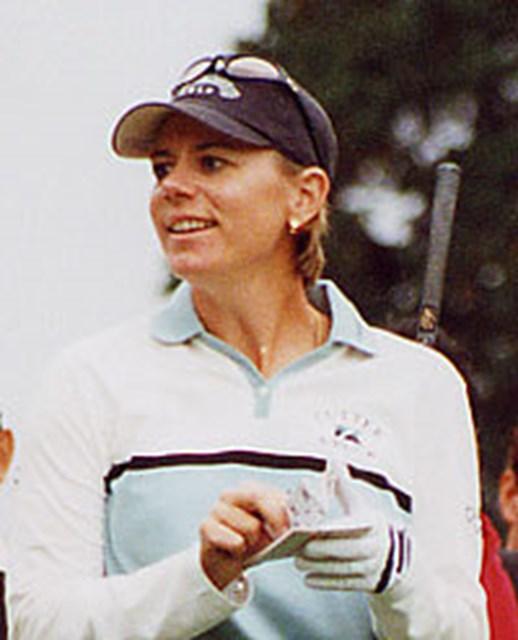 2001年 ミズノクラシック 最終日 アニカ・ソレンスタム 2週連続優勝を果たしたA.ソレンスタム