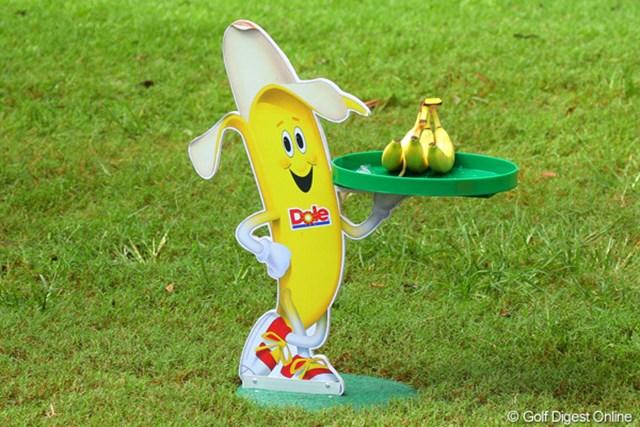 2012年 ザ・ロイヤルトロフィ 初日 バナナくん ティグラウンド脇に発見。