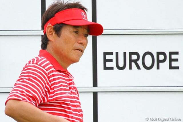 2012年 ザ・ロイヤルトロフィ 2日目 尾崎直道 初日に大量リードを奪われた欧州チームの背中をとらえたアジアチームの尾崎直道キャプテン