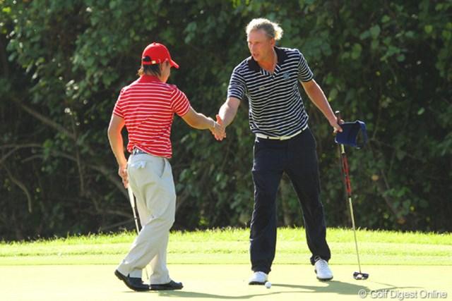 2012年 ザ・ロイヤルトロフィ 最終日 マルセル・シーム&藤本佳則 ゴルフは身長ではない。