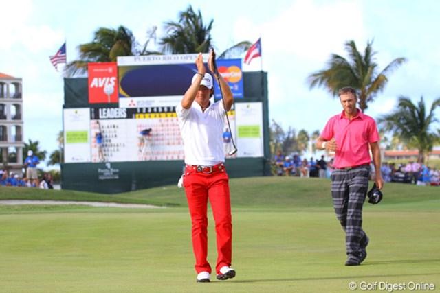 2012年の「プエルトリコオープン」では、ツアー初勝利に僅か届かず単独2位に終わった石川遼だが、確固たる戦績を残した※写真は2012「プエルトリコオープン」最終日