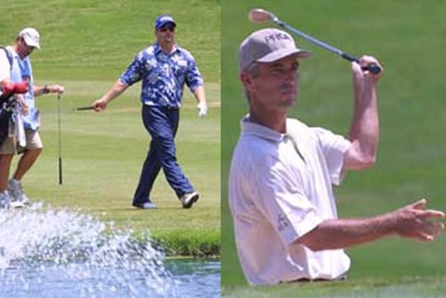 2001年 マスターカードコロニアル 2日目 左)池に4発打ち込んだD.ポールソン 右)テクニシャン、ペイビンの復活か!?