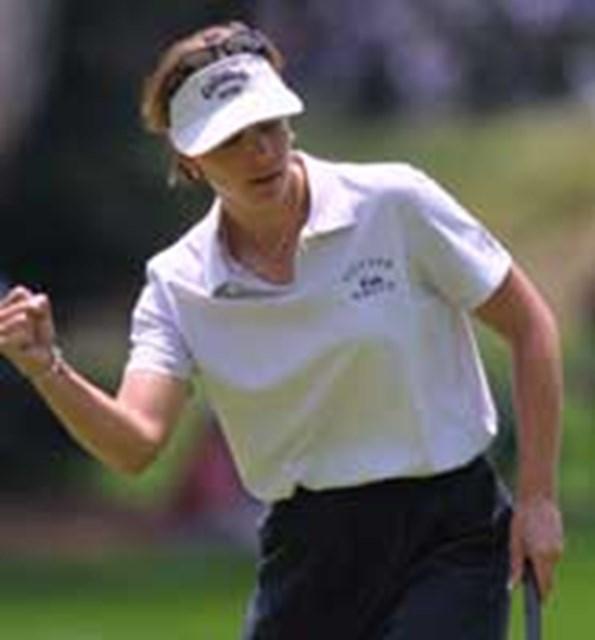 2001年 全米女子オープン 初日 アニカ・ソレンスタム メジャー連勝を狙うA.ソレンスタム
