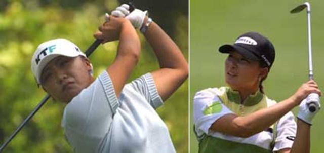 2001年 全米女子オープン 初日 金美賢 朴セリ 左)朴セリと共に韓国ゴルフ界をリードする金美賢 右)アニカ、ウェブの最大のライバル、朴セリ