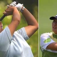 左)朴セリと共に韓国ゴルフ界をリードする金美賢 右)アニカ、ウェブの最大のライバル、朴セリ 2001年 全米女子オープン 初日 金美賢 朴セリ