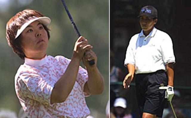 2001年 全米女子オープン 最終日 不動裕理 中野晶 不動裕理、中野晶