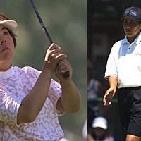 不動裕理、中野晶 2001年 全米女子オープン 最終日 不動裕理 中野晶