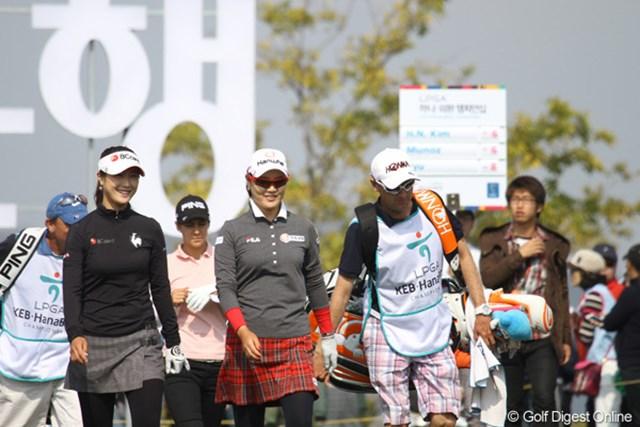 LPGAハナバンク選手権の一コマ。リュー・ソヨンとKLPGAの賞金女王、キム・ハヌル