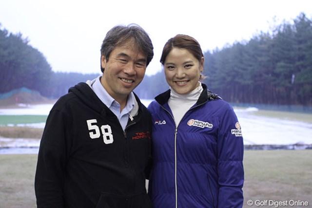 ソヨンと、韓国ゴルフに対する熱い思いを抱く伊藤康樹執行役員兼マーケティング本部長