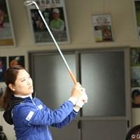 山形酒田の本間ゴルフで来年度に向けたクラブテストを行うリュー・ソヨン 山形酒田の本間ゴルフでクラブテストを行うリュー・ソヨン