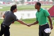 2013年 アブダビHSBCゴルフ選手権 事前 ロリー・マキロイ&タイガー・ウッズ