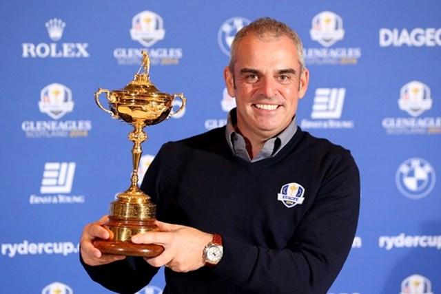2013年 アブダビHSBCゴルフ選手権 事前 ポール・マギンリー 2014年「ライダーカップ」の欧州チームキャプテンに就任したP.マギンリー(Getty Images)