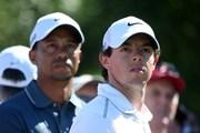 2013年 アブダビHSBCゴルフ選手権 2日目 ロリー・マキロイ&タイガー・ウッズ