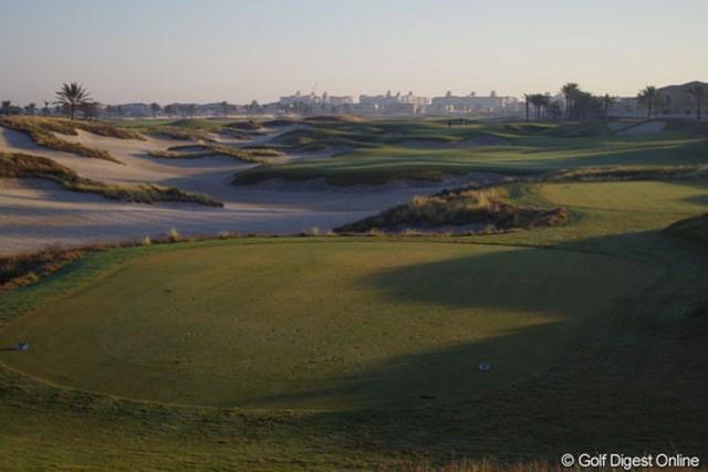 2013年 アブダビHSBCゴルフ選手権 サディヤットビーチGC 早朝のサディヤットビーチGC