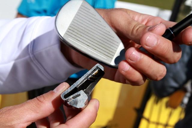 ギアニュース 2013年 PGAマーチャンダイスショー デモデー アイアンには全モデルにスピードポケット構造。衝撃を和らげる