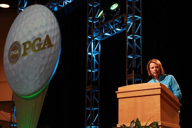 アニカ・ソレンスタム=自らのゴルフ人生とゴルフの大切さをスピーチで語った