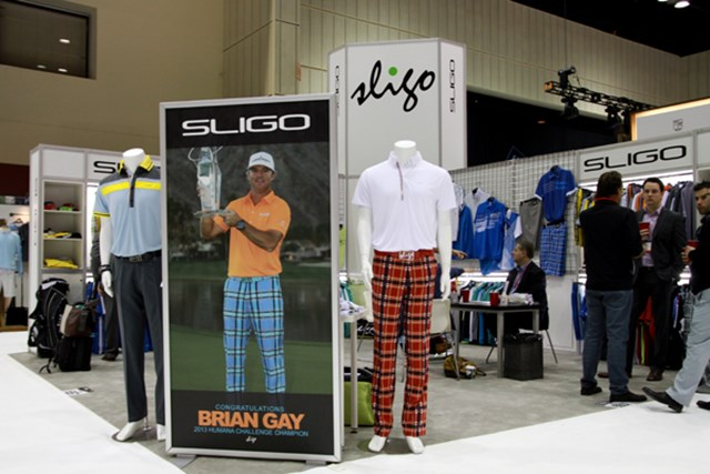 スライゴ=先週の『ヒュマーナチャレンジ』で優勝したブライアン・ゲイが着用するのがスライゴのウェア。ある意味もっともホットなブランドだ