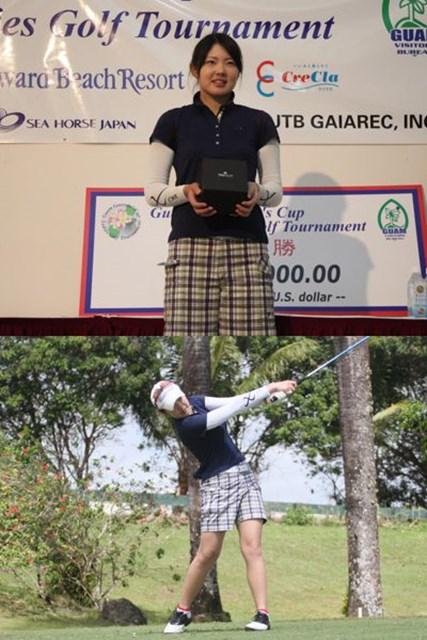 逆転優勝を飾った19歳の辻梨恵。昨年の国内女子ツアーファイナルQTでは19位に入っている