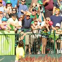 PINGのサンバイザーをプレゼント 2013年 ウェイストマネジメント フェニックスオープン 3日目 バッバ・ワトソン