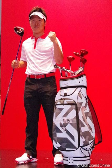 2013年 ジャパンゴルフフェア 伊藤誠道 プロデビューを控えた今季、ナイキゴルフと契約した17歳の伊藤誠道。