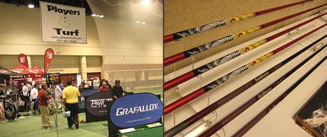 PGAショーの会場にはブースを出展しなかったシャフトメーカーだが、デモデーでは打席を用意し自社製品をアピールしていた。