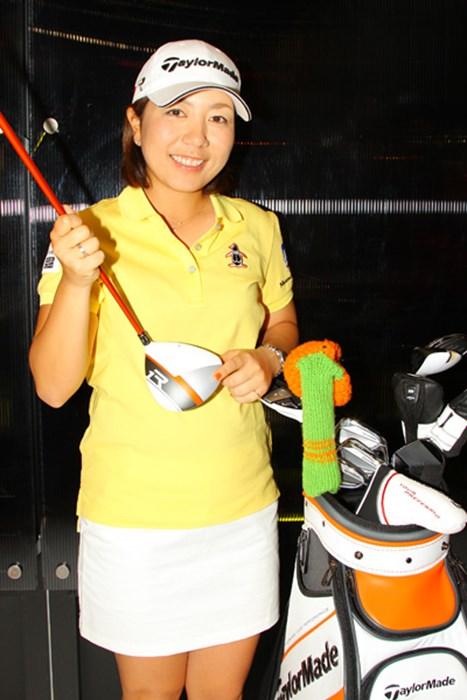 今季はメジャー大会でも優勝を狙いたいと抱負を語った。 2013年 ジャパンゴルフフェア 宮里美香