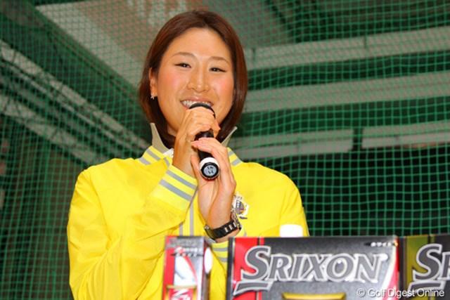 2013年 ジャパンゴルフフェア 木戸愛 オフにはおしりの筋肉強化をテーマにトレーニングを積んだ木戸愛