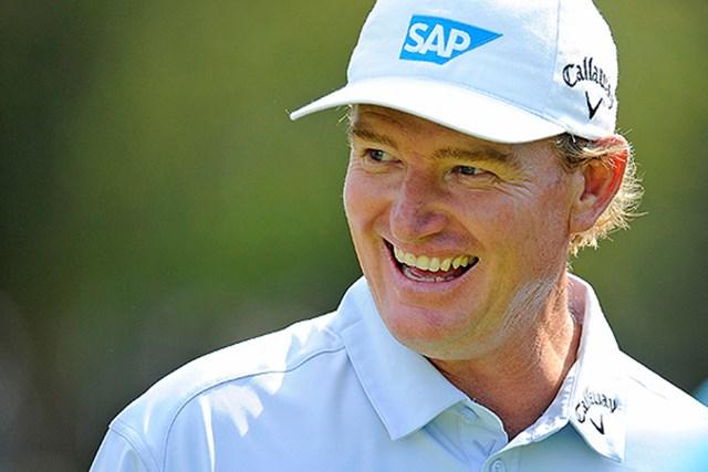 2013年 アーニー・エルス PGATOUR公式サイト内にブログメッセージを発信しているE.エルス(Chris Condon/PGA TOUR)