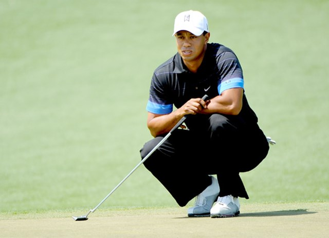 2009年 マスターズ 初日 タイガー・ウッズ 左膝の手術も無事に成功し、2005年以来となる制覇に挑むT.ウッズ(Stuart Franklin /Getty Images)