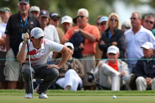 ディフェンディンぐチャンピオンは静かなスタート・・・R.マキロイは今大会が今季3試合目だ。(Stuart Franklin/Getty Images)