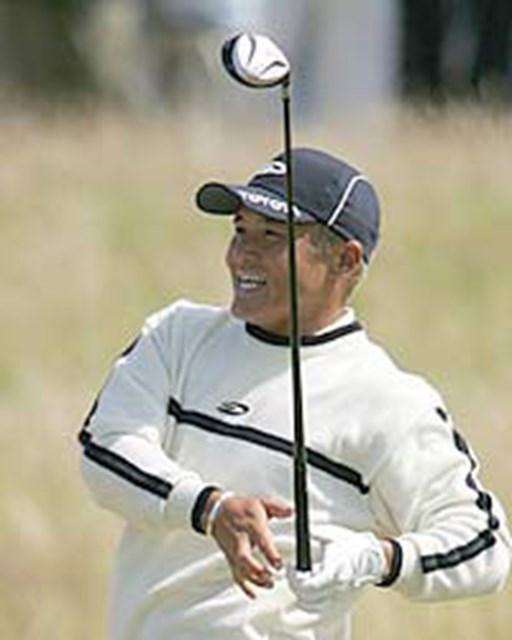 2004年 全英オープン 最終日 丸山茂樹 先月の「全米オープン」で見せた活躍が影を潜めた丸山茂樹。一時帰国し、来月の「全米プロ」に備える(写真/BEYONDSHIP)