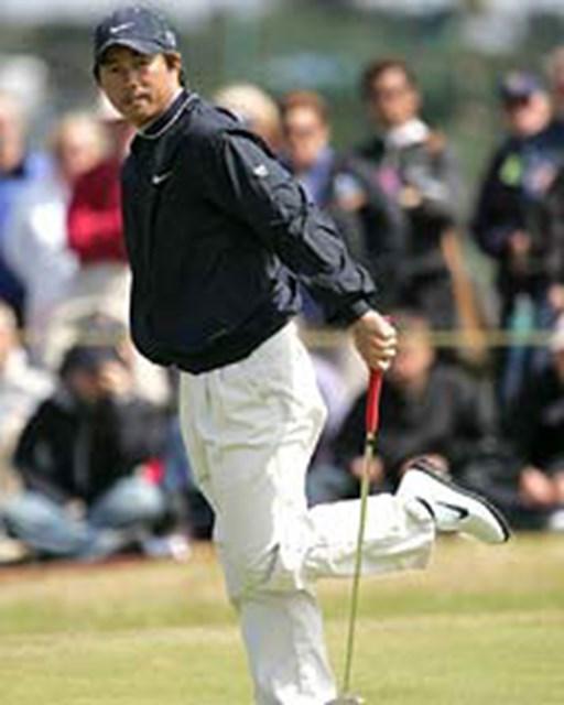 2004年 全英オープン 最終日 深堀圭一郎 最終日を3オーバーで終えた深堀圭一郎。海外でのプレイにも慣れてきていて、来年の全英出場権を既に狙っている(写真/BEYONDSHIP)